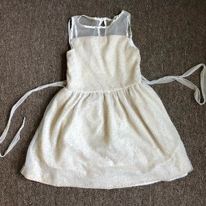 White/cream color lacy girls dress. Worn only 1-2x